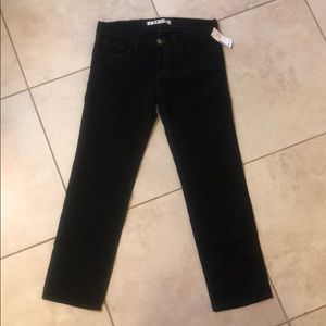 NWT black, skinny, cropped jeans. J Brand